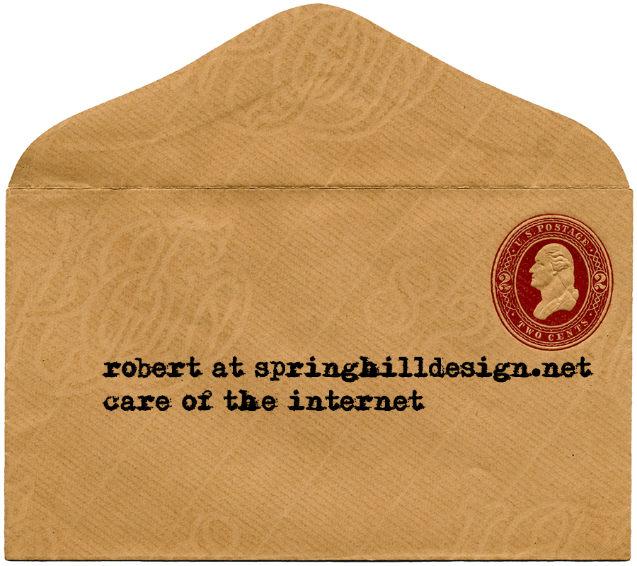 Old-timey envelope